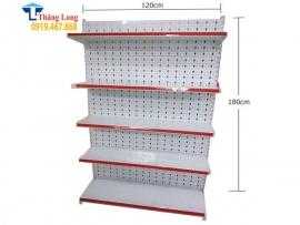 Kệ đơn siêu thị tôn đục lỗ H1800*W1200*D410