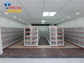 Lắp đặt trọn bộ sản phẩm giá kệ siêu thị mini tại Long Biên