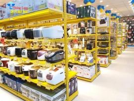 Kệ để hàng gia dụng màu vàng đẹp, giá rẻ