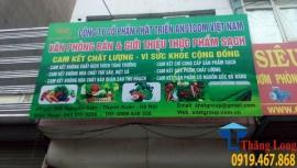 Lắp đặt kệ siêu thị cho cửa hàng rau quả sạch ở Thanh Xuân