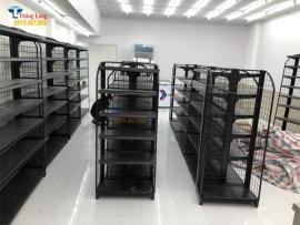 Lắp đặt kệ siêu thị màu đen tại Lâm Đồng